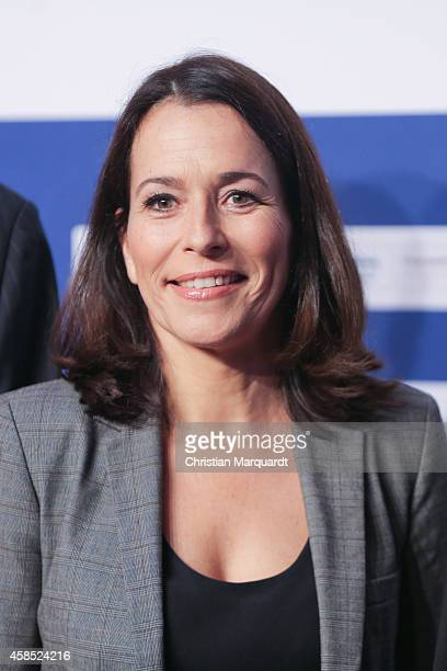 Anne Will attends the annual 'ARD Capital Meeting ARDHauptstadttreff' on November 6 2014 in Berlin Germany Representatives from politics business...