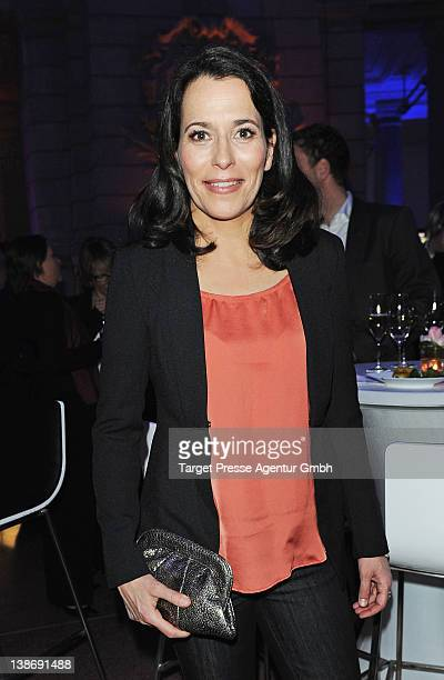 Anne Will attends the Blue Hour Reception at the 'Museum fuer Kommunikation' during day two of the 62nd Berlinale International Film Festival on...