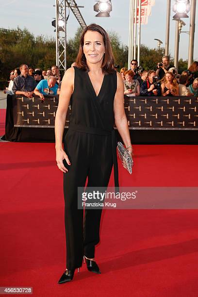 Anne Will attends the red carpet of the Deutscher Fernsehpreis 2014 on October 02 2014 in Cologne Germany