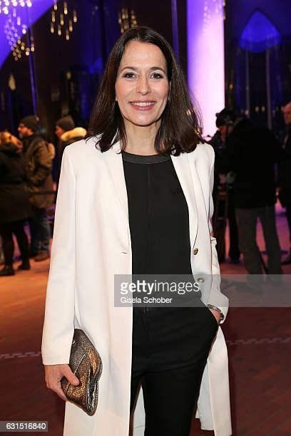 Anne Will during the opening concert of the Elbphilharmonie concert hall on January 11 2017 in Hamburg Germany
