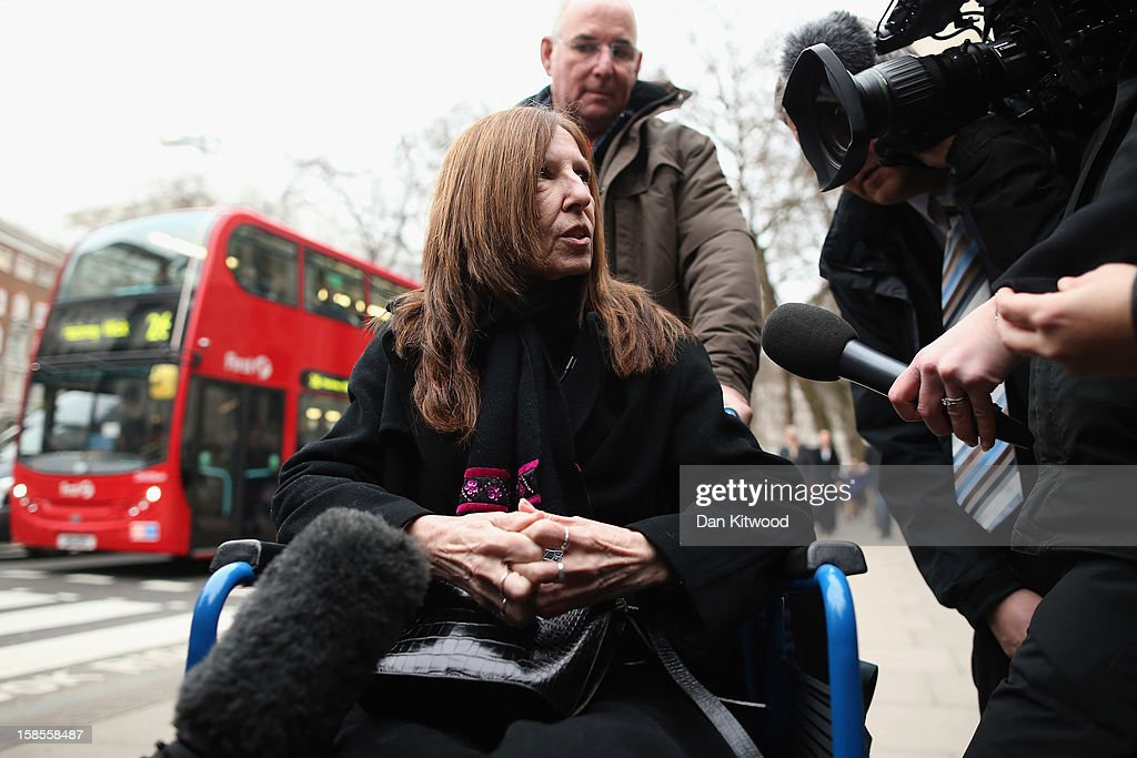 Anne Williams who lost her son Kevin in the Hillsborough Disaster speaks to media as she arrives at the High Court on December 19, 2012 in London, England. An application presented by the attorney general, Dominic Grieve to Lord Chief Justice, Lord Judge has resulted in the quashing of the original accidental death verdict and an order for fresh inquests. The Hillsborough disaster occurred during the FA Cup semi-final tie between Liverpool and Nottingham Forest football clubs in April 1989 at the Hillsborough Stadium in Sheffield, which resulted in the deaths of 96 football fans.