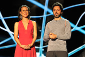 Anne Wojcicki and Sergey Brin are presenters at the 2014 Breakthrough Prizes Awarded in Fundamental Physics and Life Sciences Ceremony at NASA Ames...