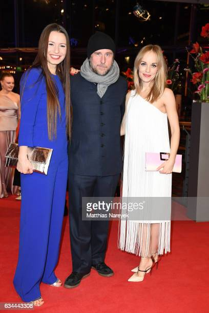 Anne Zohra Berrached Bjarne Maedel and Friederike Kempter attend the 'Django' premiere during the 67th Berlinale International Film Festival Berlin...
