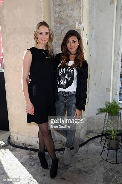 AnneCatrin Maerzke and Nadine Menz attend the holyGhost show during the MercedesBenz Fashion Week Berlin A/W 2017 at Kaufhaus Jandorf on January 17...