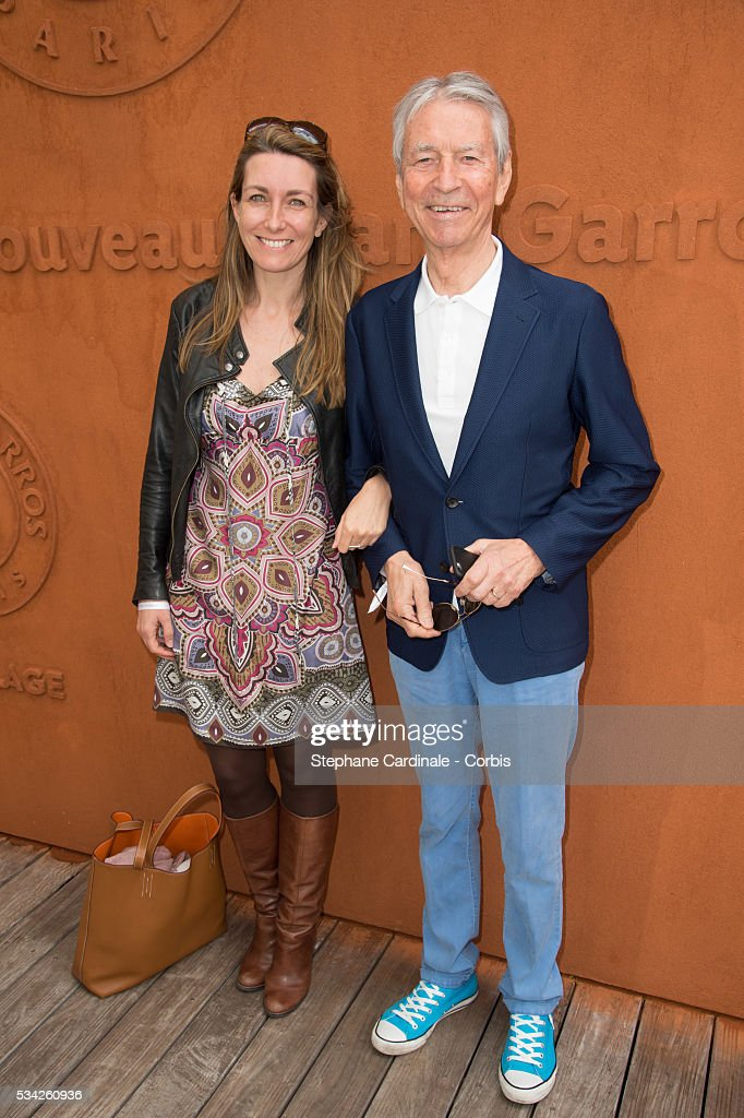 Anne-Claire Coudray and Jean Claude Narcy attend the day four of the 2016 French Open at Roland Garros on May 25, 2016 in Paris, France.