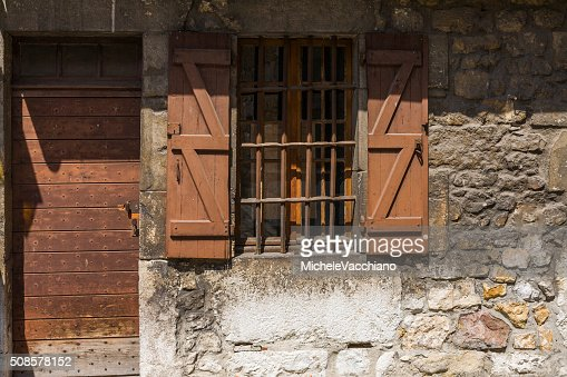 Annecy, France. Door and window in the old town : Stock Photo