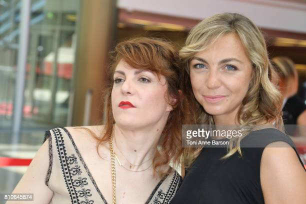 AnneElisabeth Blateau and Amelie Etasse attend photocall for 'Scenes de Menages' on June 17 2017 at the Grimaldi Forum in MonteCarlo Monaco