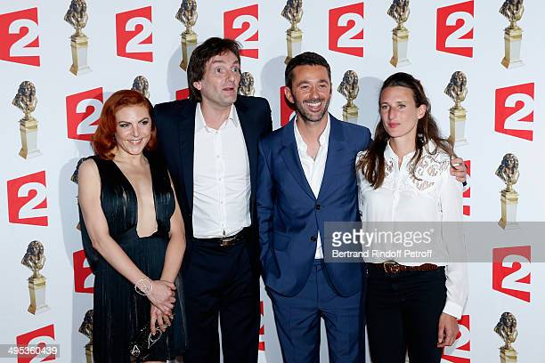 AnneElisabeth Blateau Pierre Palmade Benjamin Gauthier and Camille Cottin attend the 26th Molieres Awards Ceremony at Folies Bergere on June 2 2014...