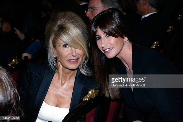 AnneFlorence Schmitt and Albane Cleret attend the Opening Season Gala at Opera Garnier on September 24 2016 in Paris France