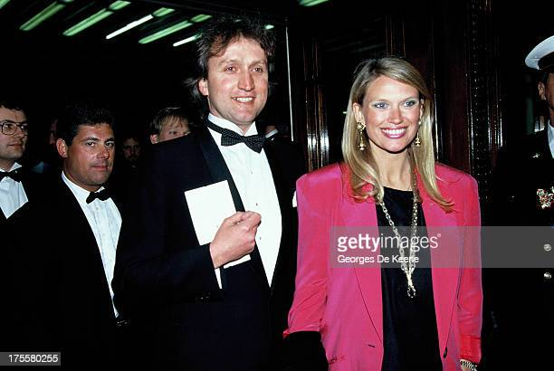Anneka Rice and her husband Nick Allott in 1988 ca in London England