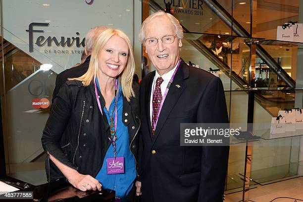 Anneka Rice and Nicholas Parsons attend the Shop with the Stars a public shopping evening to celebrate The Olivier Awards with MasterCard to raise...