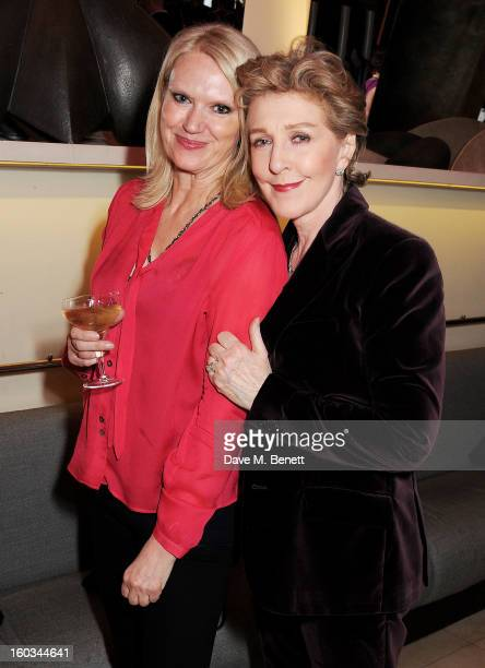 Anneka Rice and Patricia Hodge attend a drinks reception at the 2012 Costa Book of the Year awards at Quaglino's on January 29 2013 in London England