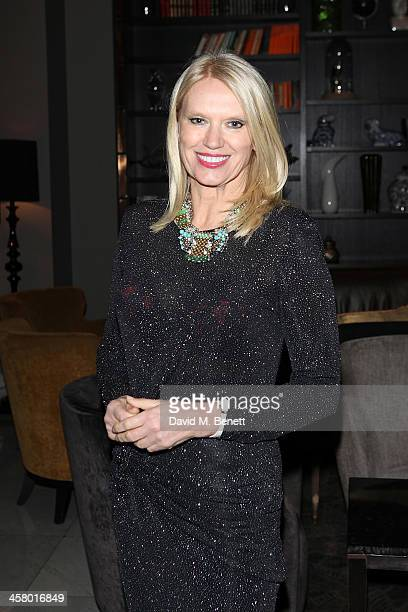 Anneka Rice attends the afterparty for Andrew Lloyd Webber's new musical 'Stephan Ward' at The Waldorf Hilton Hotel on December 19 2013 in London...