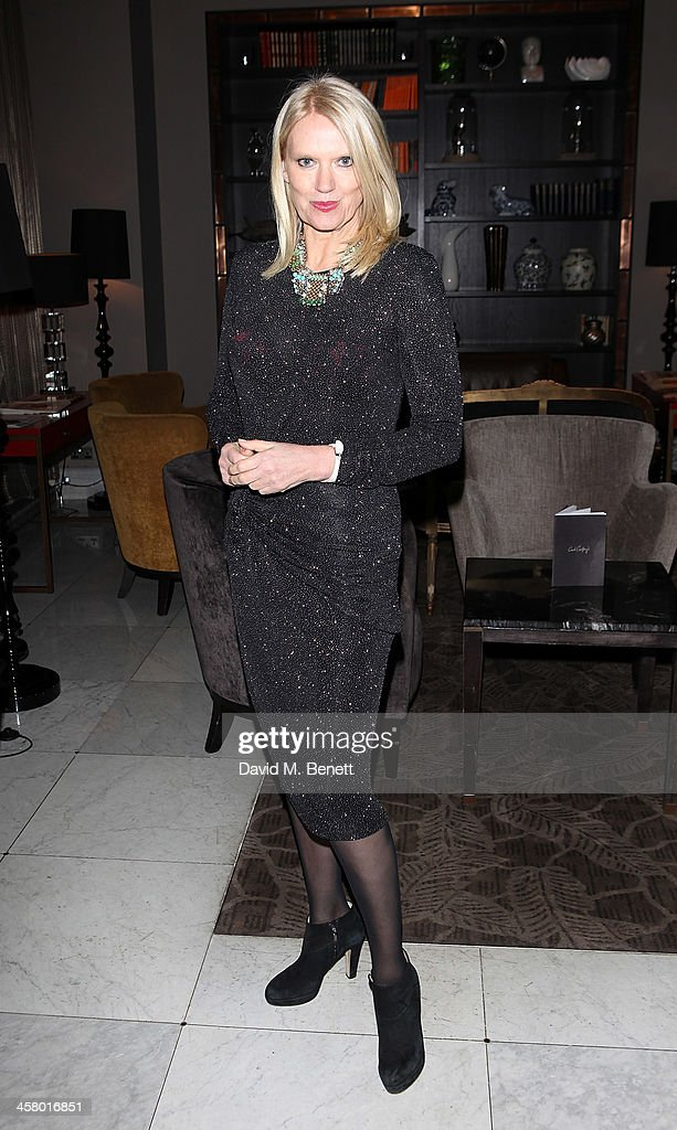 Anneka Rice attends the afterparty for Andrew Lloyd Webber's new musical 'Stephan Ward' at The Waldorf Hilton Hotel on December 19, 2013 in London, England.