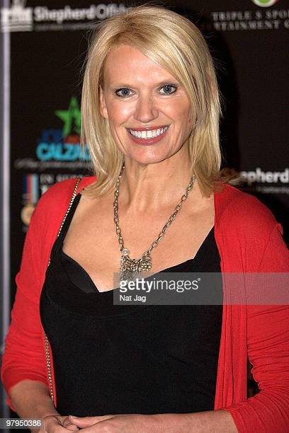 Anneka Rice attends the Help For Heroes Gala dinner hosted by Joe Calzaghe at The Grosvenor House Hotel on March 22 2010 in London England
