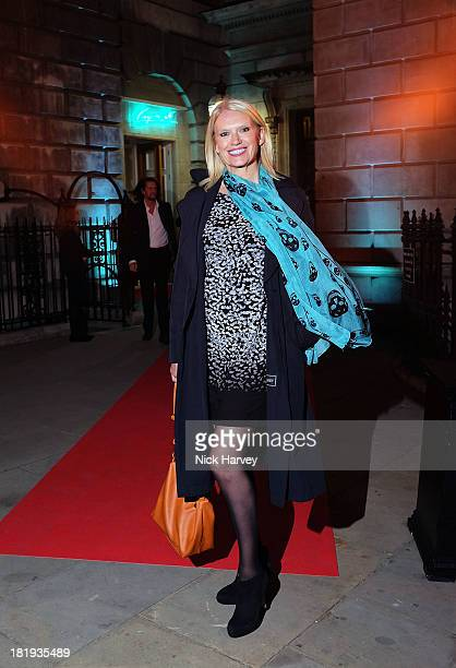 Anneka Rice attends The Keeper's House Party at Royal Academy of Arts on September 26 2013 in London England