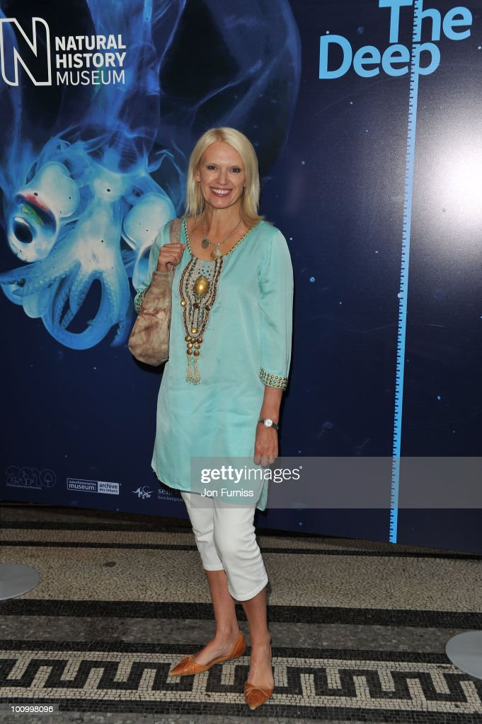Anneka Rice attends the launch party for 'The Deep' exhibition at Natural History Museum on May 26, 2010 in London, England.