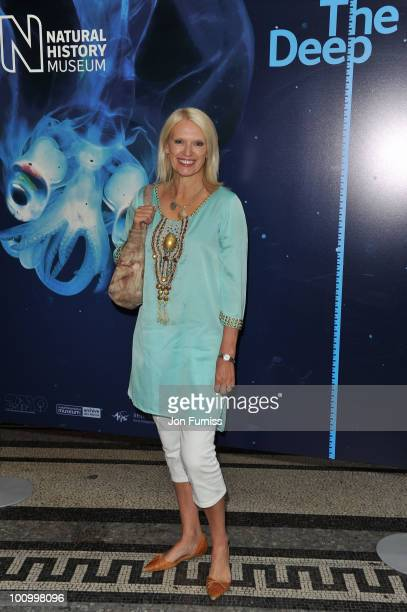 Anneka Rice attends the launch party for 'The Deep' exhibition at Natural History Museum on May 26 2010 in London England