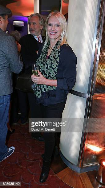 Anneka Rice attends the press night after party for 'Half A Sixpence' at The Prince of Wales Theatre on November 17 2016 in London England