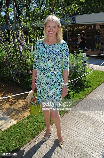 Anneka Rice attends the VIP preview day of The Chelsea Flower Show at The Royal Hospital Chelsea on May 19 2014 in London England