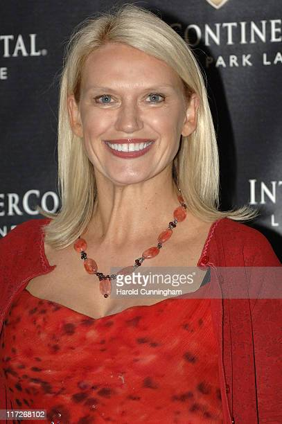 Anneka Rice during InterContinental London Park Lane Relaunch Gala Inside Arrivals at InterContinental Hotel in London Great Britain