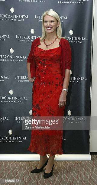 Anneka Rice during InterContinental London Park Lane Relaunch Party Red Carpet Arrivals at InterContinental Hotel in London United Kingdom