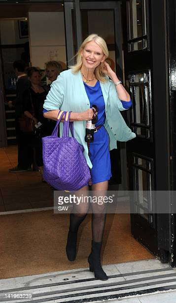 Anneka Rice pictured at the BBC Radio studios on March 27 2012 in London England