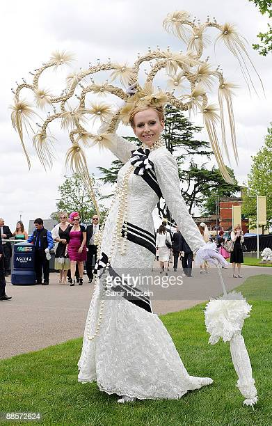 Anneka Svenska attends Ladies Day of Royal Ascot at Ascot Racecourse on June 18 2009 in Ascot England