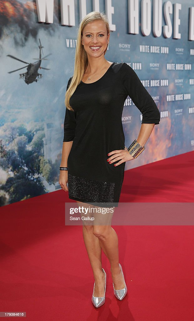 Anneke Duerkopp attends the 'White House Down' Germany premiere at CineStar on September 2, 2013 in Berlin, Germany.