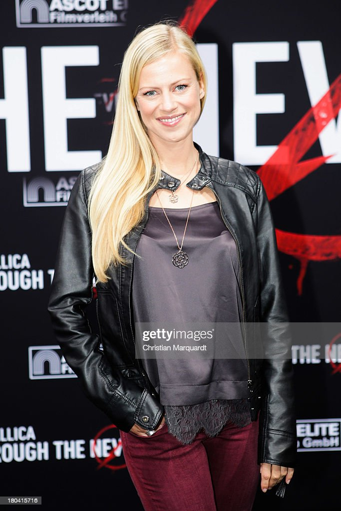 Anneke Duerrkopp attends the German premiere of 'Metallica - Through The Never' on September 12, 2013 in Berlin, Germany.