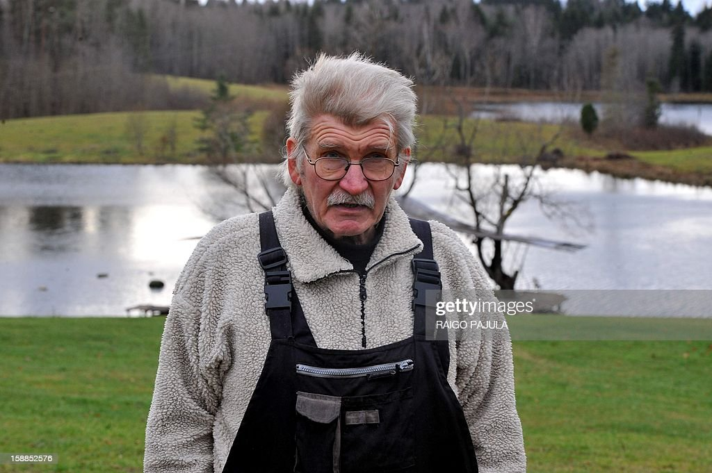 Anneli REIGAS Estonian farmer Tonu Tamm, 71, is pictured at his 10-hectare lake on December 15, 2012 in Leigo. Estonian Tonu Tamm has dedicated the past two decades of his life to his obsession of creating artificial lakes. AFP PHOTO / Raigo Pajula