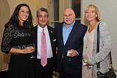 Anneliese Barron Ted Leonsis Barry Trotz and Kim Trotz attend the 2014 Audi Best Buddies Challenge VIP Reception at Georgetown University on October...