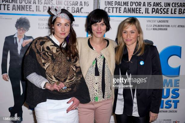 Annelise Hesme Clotilde Hesme and Elodie Hesme attend the 'JC Comme Jesus Christ' Paris premiere at the UGC Cine Cite des Halles on February 6 2012...