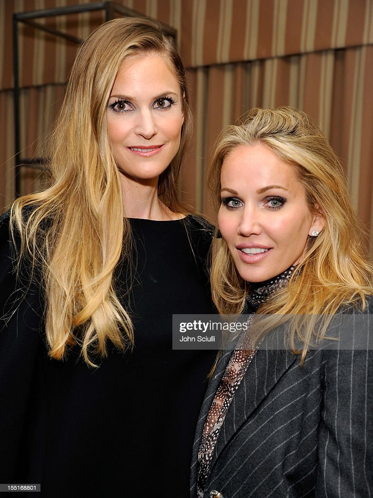 Annelise Peterson and Brooke Davenport attend a dinner hosted by Ali Larter celebrating the Devi Kroell Spring Summer 2013 Collection at Sunset Tower on November 1, 2012 in West Hollywood, California.