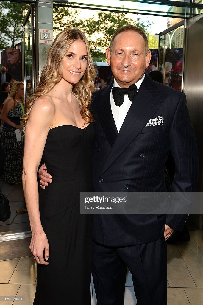 Annelise Peterson and Estee Lauder group President John Demsey attend the 2013 Fragrance Foundation Awards at Alice Tully Hall at Lincoln Center on June 12, 2013 in New York City.