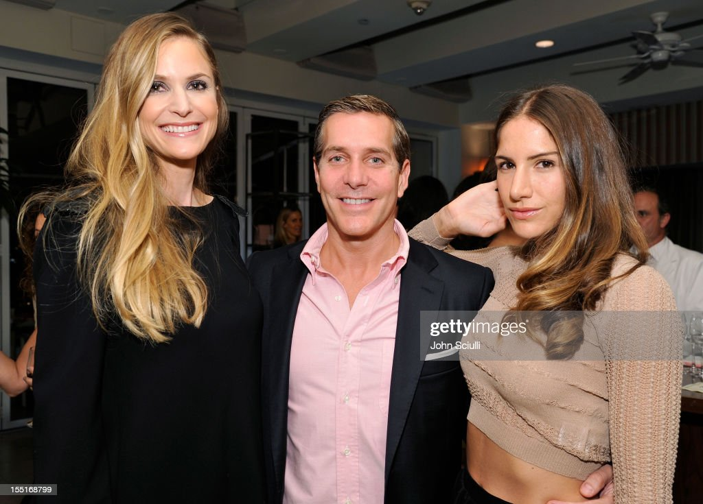 Annelise Peterson, Christian Leone and Minnie Mortimer Gaghan attend a dinner hosted by Ali Larter celebrating the Devi Kroell Spring Summer 2013 Collection at Sunset Tower on November 1, 2012 in West Hollywood, California.