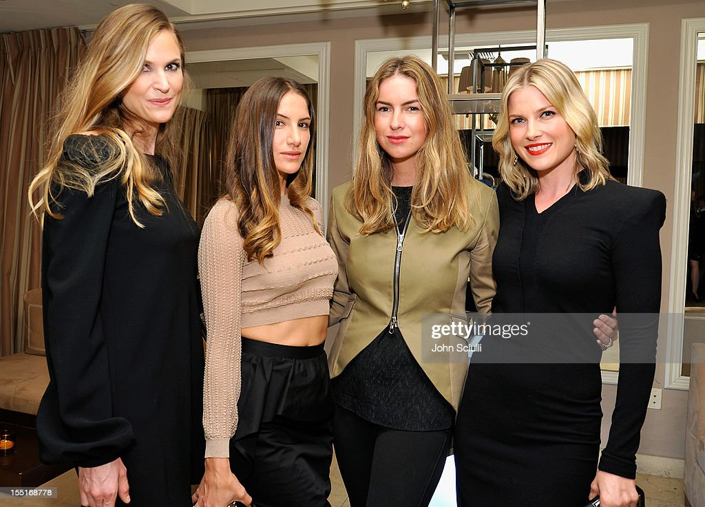 Annelise Peterson, Minnie Mortimer Gaghan, Claiborne Swanson Frank and Ali Larter attend a dinner hosted by Ali Larter celebrating the Devi Kroell Spring Summer 2013 Collection at Sunset Tower on November 1, 2012 in West Hollywood, California.
