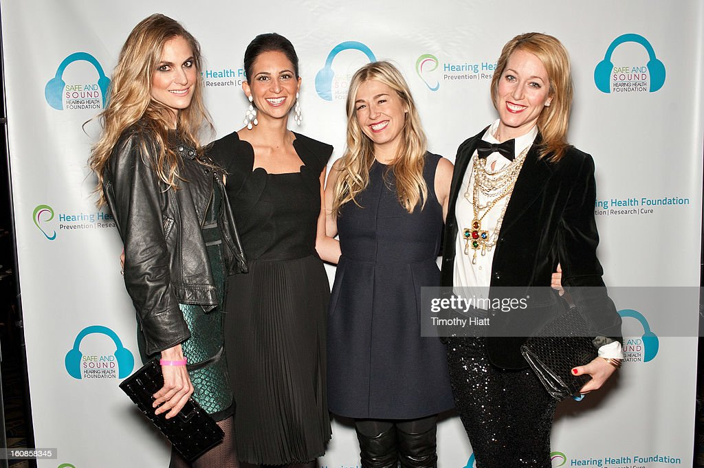 Annelise Peterson, Natasha Boucai, Melanie Charlton, and Janet Gorgone attend the Hearing Health Foundation's An Intimate Evening with Cyndi Lauper at B.B. King Blues Club & Grill on February 6, 2013 in New York City.