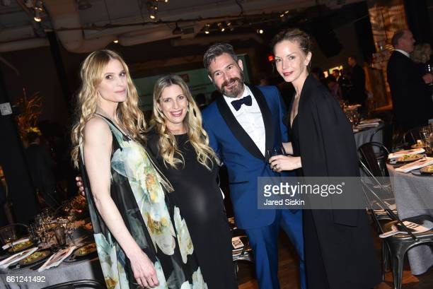 Annelise Winter Valerie Macaulay Bronson Van Wyck and Meredith Melling attend the First Annual Medair Gala at Stephan Weiss Studio on March 30 2017...