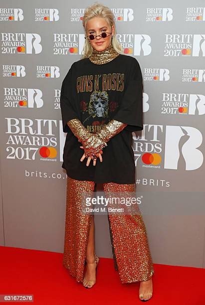 AnneMarie arrives at The BRIT Awards with Mastercard 2017 nominations show at ITV Studios on January 14 2017 in London England