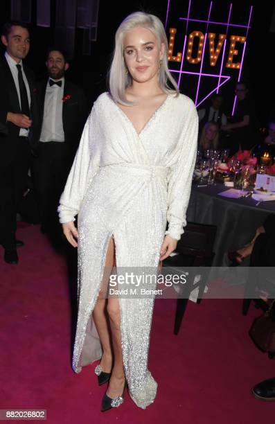 AnneMarie attends CLUB LOVE for the Elton John AIDS Foundation in association with BVLGARI on November 29 2017 in London England