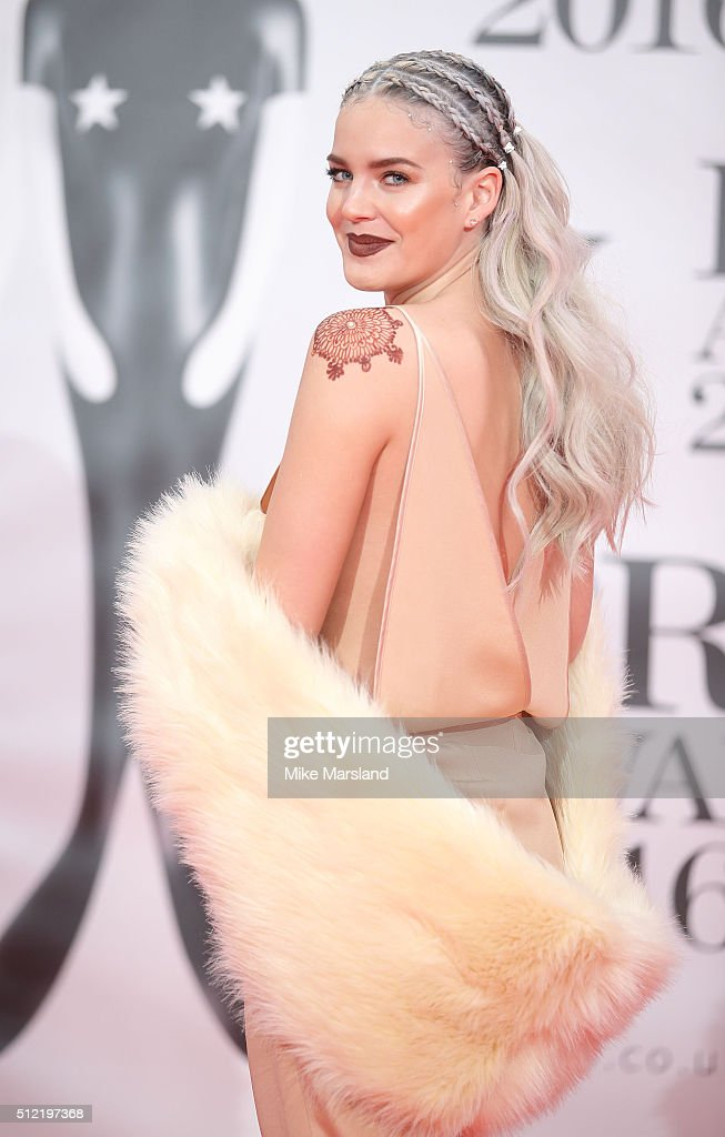 Anne-Marie attends the BRIT Awards 2016 at The O2 Arena on February 24, 2016 in London, England.
