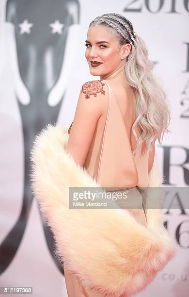 AnneMarie attends the BRIT Awards 2016 at The O2 Arena on February 24 2016 in London England