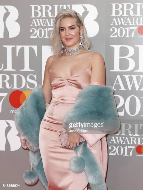 AnneMarie attends The BRIT Awards 2017 at The O2 Arena on February 22 2017 in London England