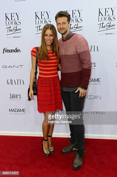Annemarie Carpendale and her husband Wayne Carpendale attend the 'Key Looks The Show' Presented By Fashion ID show during the MercedesBenz Fashion...
