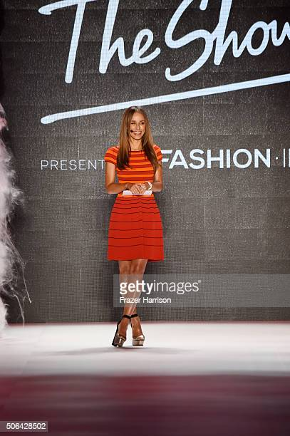 Annemarie Carpendale hosts the 'Key Looks The Show' Presented By Fashion ID show during the MercedesBenz Fashion Week Berlin Autumn/Winter 2016 at...