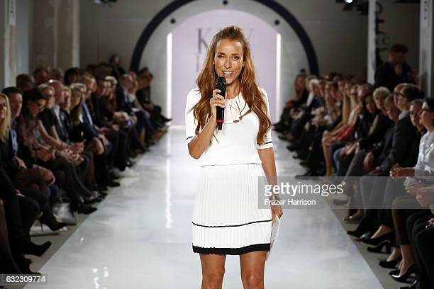 Annemarie Carpendale hosts the 'Key Looks The Show' presented by Fashion ID show during the MercedesBenz Fashion Week Berlin A/W 2017 at Kaufhaus...