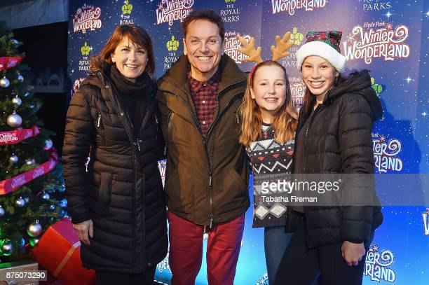 AnneMarie Conley Brian Conley Lucy Conley and Amy Conley attend the Winter Wonderland VIP launch night at Hyde Park on November 16 2017 in London...