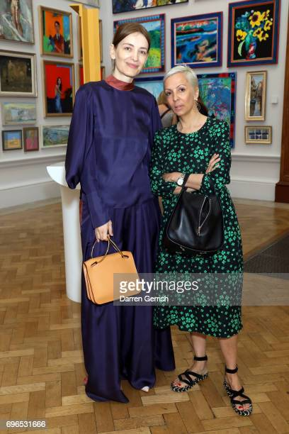AnneMarie Curtis and Roksanda Ilincic attend the Roksanda handbag celebration breakfast at the Royal Academy of Arts on June 16 2017 in London England