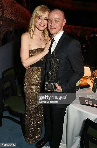 AnneMarie Duff and James McAvoy attend The London Evening Standard Theatre Awards after party in partnership with The Ivy at The Old Vic Theatre on...